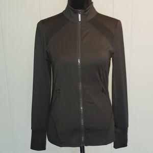 Michael Kors Black Athletic Zip Up Jacket Fitness